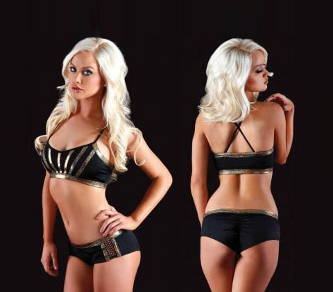Vertical Vixen Angel Scrunch Back Short
